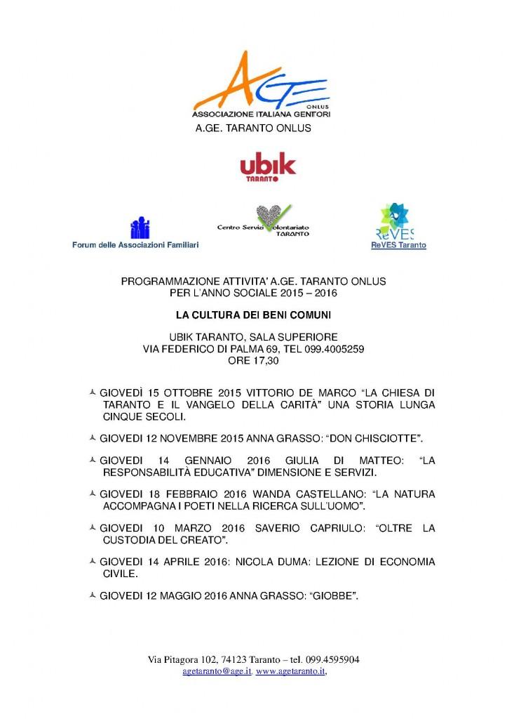 programmazione incontri AGE Taranto  2015 - 2016 rev.1